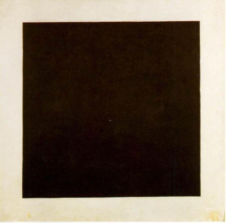 Cuadrado negro sobre fondo blanco